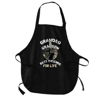 Papa Grandson Best Friends For Life T Shirt Medium-length Apron Designed By Badaudesign