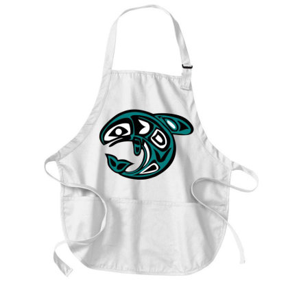Tribal Whale Medium-length Apron Designed By Chiks