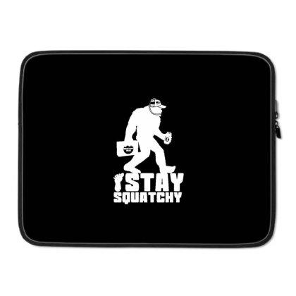 Stay Squatchy Bigfoot Beer Drinker Laptop Sleeve Designed By Blackstone