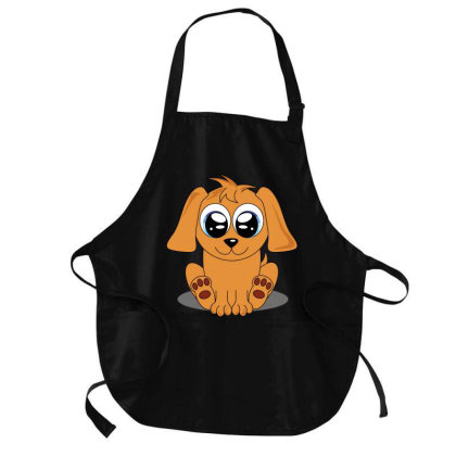 Cute Puppy Medium-length Apron Designed By Chiks