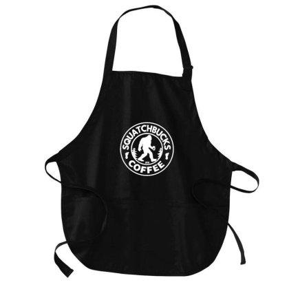 Stay Squatchy Bigfoot Squatchbucks Coffee Medium-length Apron Designed By Blackstone
