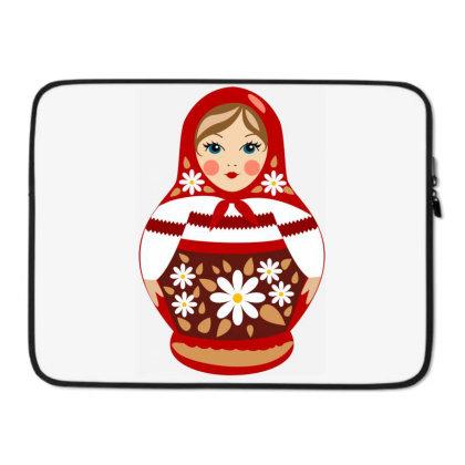 Red Babushka Laptop Sleeve Designed By Catizinet