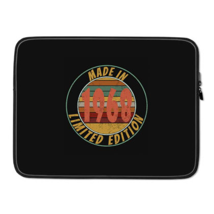 Made In 1968 Limited Edition Retro Vintage Laptop Sleeve Designed By Qudkin