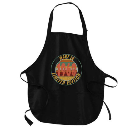 Made In 1968 Limited Edition Retro Vintage Medium-length Apron Designed By Qudkin