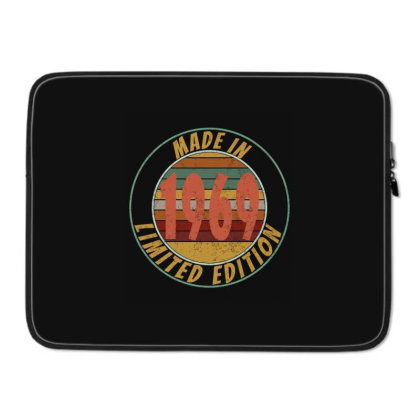 Made In 1969 Limited Edition Retro Vintage Laptop Sleeve Designed By Qudkin