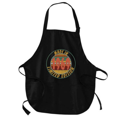 Made In 1969 Limited Edition Retro Vintage Medium-length Apron Designed By Qudkin