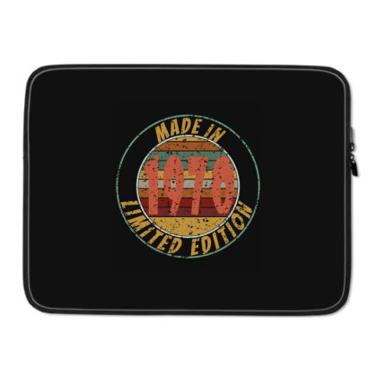 Made In 1970 Limited Edition Retro Vintage Laptop Sleeve Designed By Qudkin
