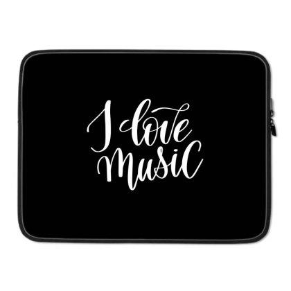 I Love Music White Laptop Sleeve Designed By Kahvel