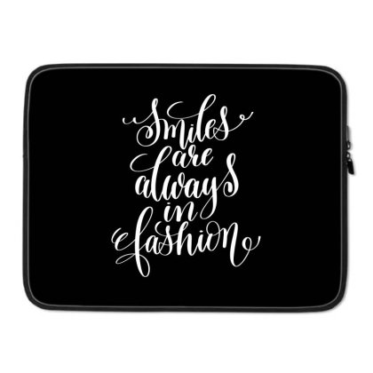 Smiles Are Always In Fashion White Laptop Sleeve Designed By Kahvel