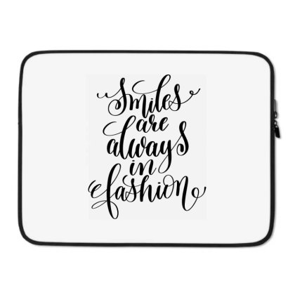 Smiles Are Always In Fashion Laptop Sleeve Designed By Kahvel