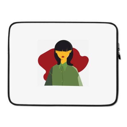 Hairbanggirl Laptop Sleeve Designed By Megecanli