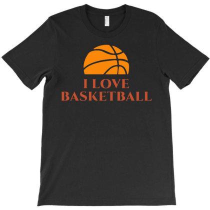 I Love Basketball T-shirt Designed By Lyly