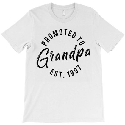 Promoted To Grandpa Est 1997 T-shirt Designed By Lyly