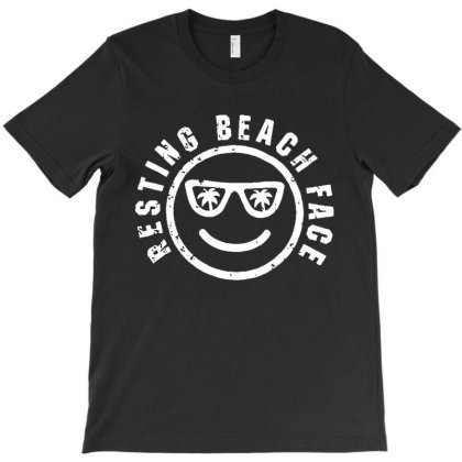 Resting Beach Face T-shirt Designed By Lyly