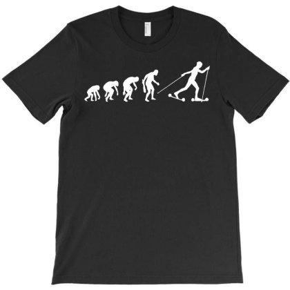 Roller Ski Cross Skating T-shirt Designed By Lyly
