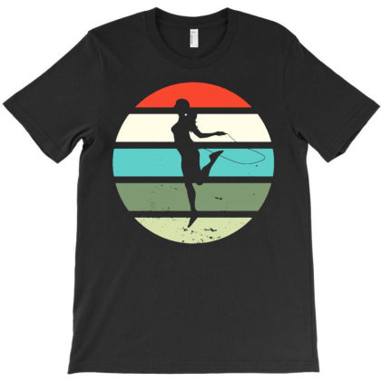 Rope Jump Skpping Vintage Rope Jumping T-shirt Designed By Lyly