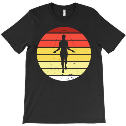 Rope Jumping Vintage Retro Jump Skipping T-shirt Designed By Lyly