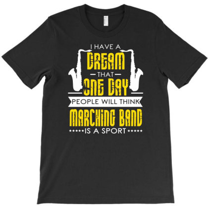 Saxophone Music Marching Band T-shirt Designed By Lyly