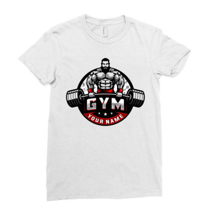 Bodybuilding Ladies Fitted T-shirt Designed By Şen