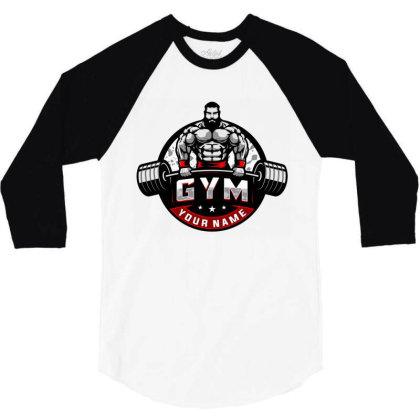 Bodybuilding 3/4 Sleeve Shirt Designed By Şen