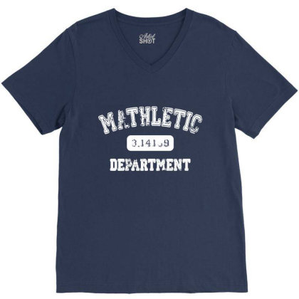 Mathletic Math Teacher Pi Mathematics Mathlete Calculus Algebra 01 V-neck Tee Designed By Wowotees