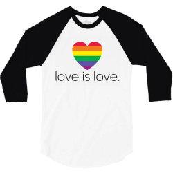 love is love 3/4 Sleeve Shirt   Artistshot