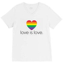 love is love V-Neck Tee   Artistshot