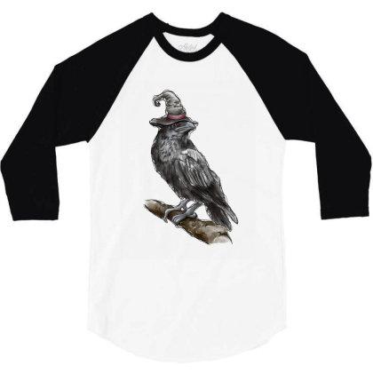 Watercolor Crown 3/4 Sleeve Shirt Designed By Badaudesign