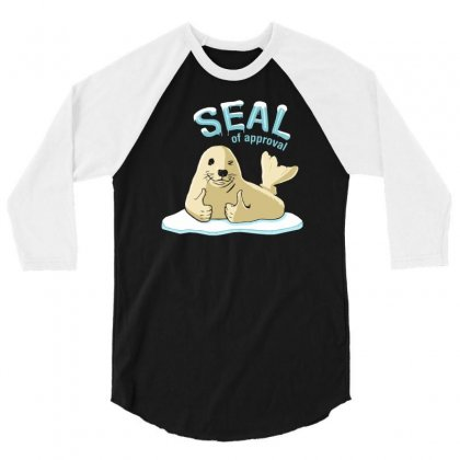 Seal Of Approval 3/4 Sleeve Shirt Designed By Gematees