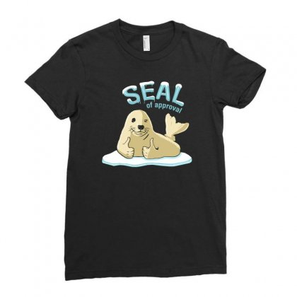 Seal Of Approval Ladies Fitted T-shirt Designed By Gematees