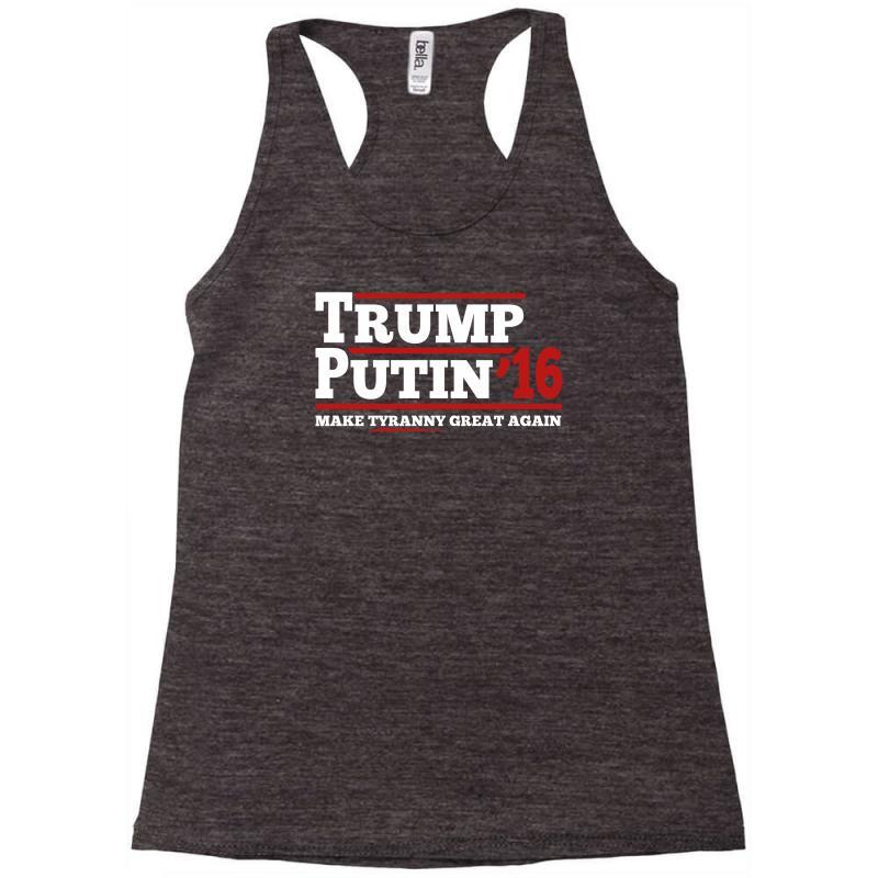 Trump Putin 2016 Racerback Tank   Artistshot