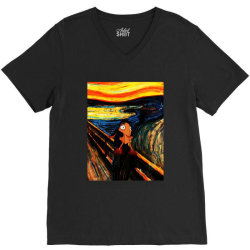 the scream V-Neck Tee | Artistshot
