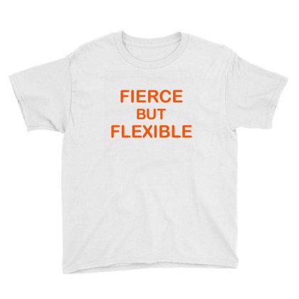Fierce & Flexible Youth Tee Designed By Chiks