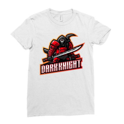 Dark Knight Ladies Fitted T-shirt Designed By Lyaart