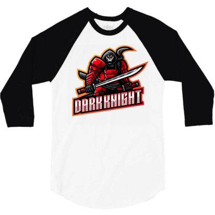 Dark Knight 3/4 Sleeve Shirt Designed By Lyaart
