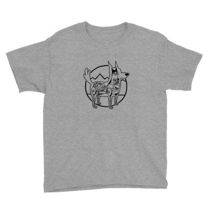 Canine Configuration Light Youth Tee Designed By Blackstone