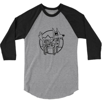 Canine Configuration Light 3/4 Sleeve Shirt Designed By Blackstone