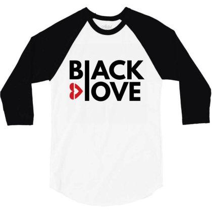 Black Loves 3/4 Sleeve Shirt Designed By Fahmifutri17