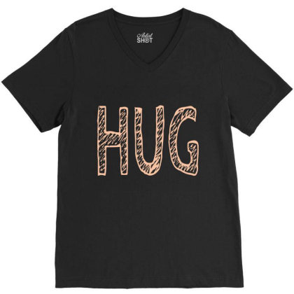 Hug V-neck Tee Designed By Fahmifutri17