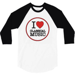 MUSIC CLASSICAL 3/4 Sleeve Shirt | Artistshot