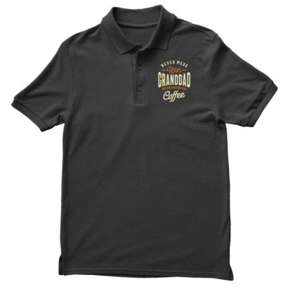 Men Gifts Never Mess With Granddad Before Coffee Men's Polo Shirt