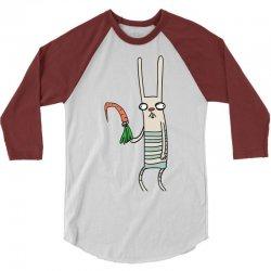 funny rabbit bunny holding a carrot 3/4 Sleeve Shirt | Artistshot