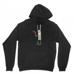 funny rabbit bunny holding a carrot Unisex Hoodie | Artistshot