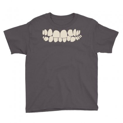 Crooked Teeth Smile Youth Tee Designed By Mdk Art