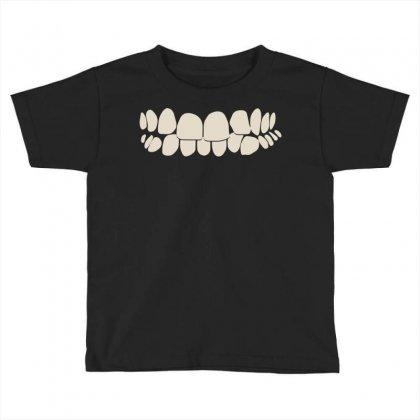 Crooked Teeth Smile Toddler T-shirt Designed By Mdk Art