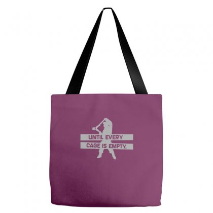 Until Every Cage Is Empty Tote Bags Designed By Mdk Art