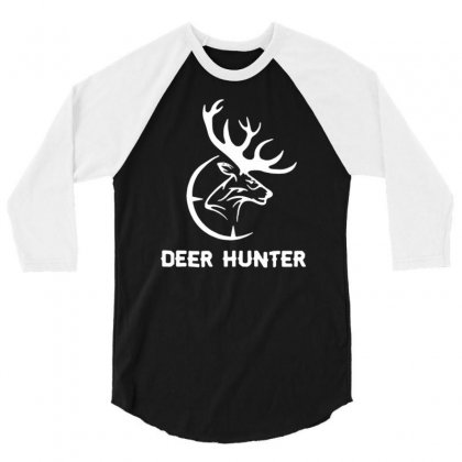 Deer Hunter 3/4 Sleeve Shirt Designed By Tonyhaddearts