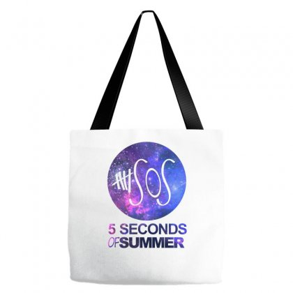 5sos Five Seconds Of Summer Logo Circle Galaxy White Tote Bags Designed By Permatasarisekar
