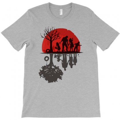 Zombie Family T-shirt Designed By Gematees