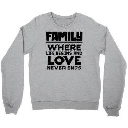 family quote 3 Crewneck Sweatshirt | Artistshot